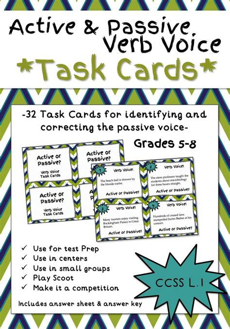 32 Best Active Vs Passive Images On Pinterest  Active Voice, Teaching Ideas And Writing Prompts