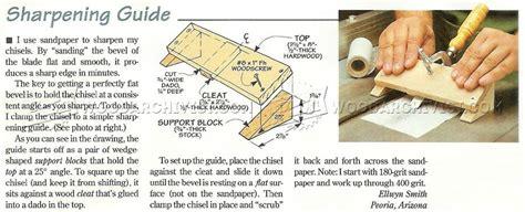 chisel sharpening guide woodarchivist
