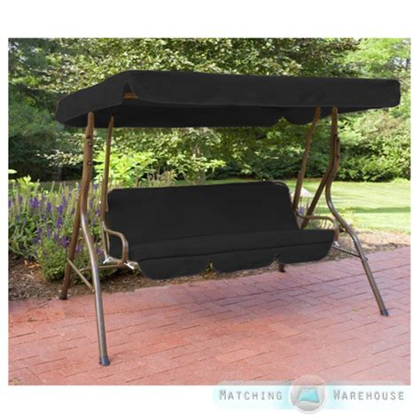 patio swings with canopy replacement replacement 3 seater swing seat canopy cover and cushions
