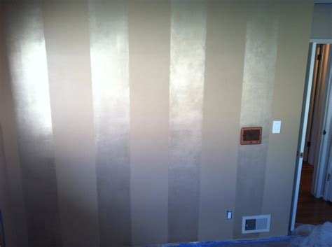 nursery walls flat behr paint in quot basketry quot with shimmer martha stewart painted striped make