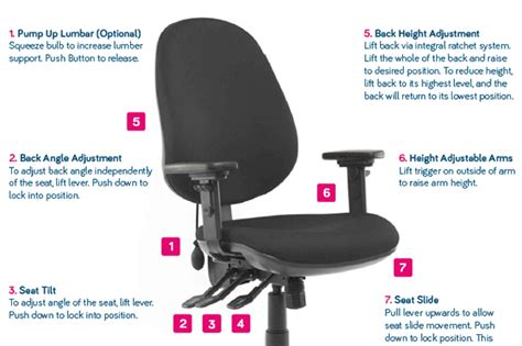 how to set up your office chair correctly posture