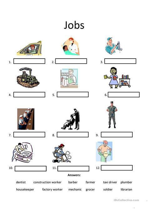 job titles worksheet worksheet  esl printable