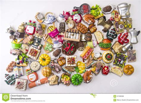 magnet cuisine small food magnets stock photo image 67338588