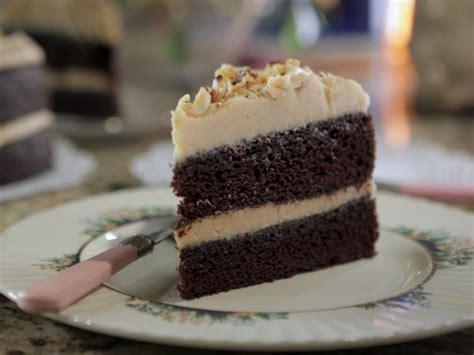 chocolate  espresso layer cake  peanut butter icing