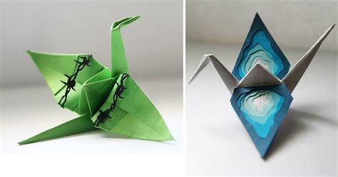 beautiful paper folding cranes  origami enthusiast