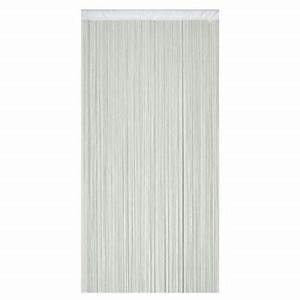 Rideau Hauteur 220 : rideau de fils 90 x 200 cm coloris blanc castorama ~ Teatrodelosmanantiales.com Idées de Décoration