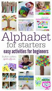 alphabet for starters easy alphabet activities for With letter games for toddlers