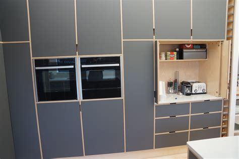 birch plywood cabinets  doors laminate covered doors  panells formica egger