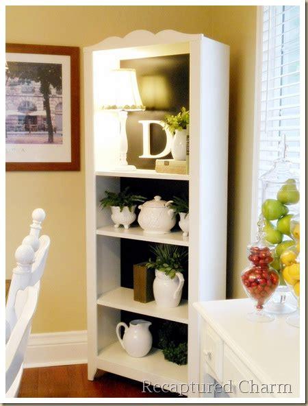 recaptured charm bookcase redo