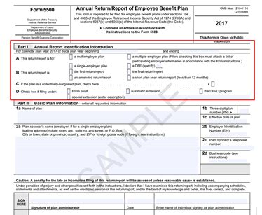 irs form 5500 instructions free checklist