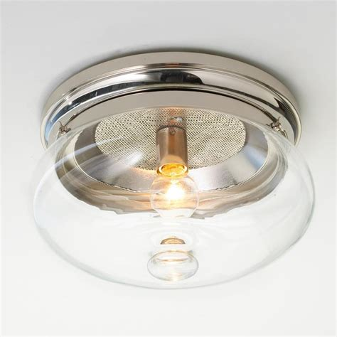 clear cloche glass ceiling light flush mount ceiling
