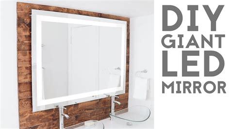 bathroom lights mirror diy led quot framed quot mirror modern builds ep 74