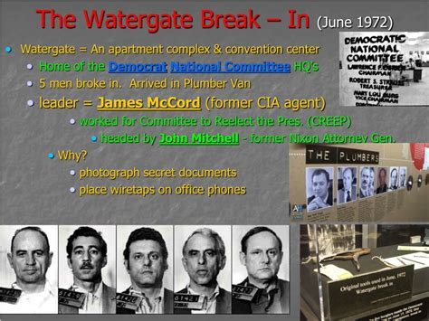 watergate 1972 nixon part evidence section ppt powerpoint presentation chapter notes