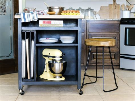 wheeled kitchen islands how to build a diy kitchen island on wheels hgtv 1004