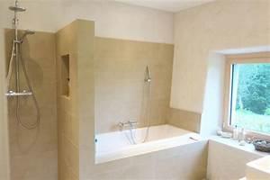 salle de bain moderne avec douche et baignoire salle de With salle de bain avec baignoire et douche italienne