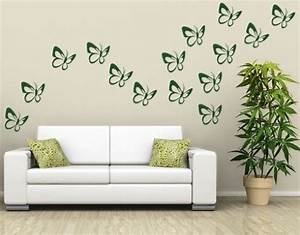 Butterflies set wall decal by style apply