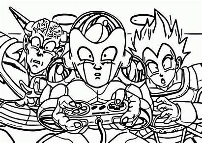 Coloring Dragon Ball Nintendo Controller Dragonball Cartoon