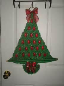 macrame christmas tree wall hanging pattern