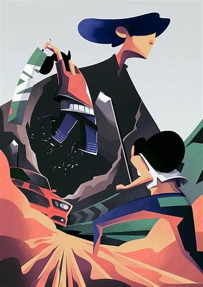 Illustration Battle Thomas Process Behance Rohlfs Illustrations
