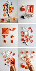 Guirlande Lumineuse Papier : 1001 projets diy super cool pour fabriquer un luminaire origami ~ Teatrodelosmanantiales.com Idées de Décoration