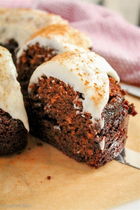Gingerbread Bundt Cake with Cream Cheese Frosting Recipe
