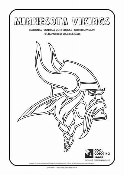 Nfl Coloring Vikings Pages Football Logos Minnesota