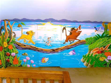 disney murals for nursery king mural sacredart murals