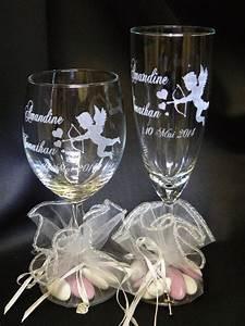 Verre A Champagne : lovely verres a vin originaux 3 verre vin grav d cor mariage ange grav ~ Teatrodelosmanantiales.com Idées de Décoration