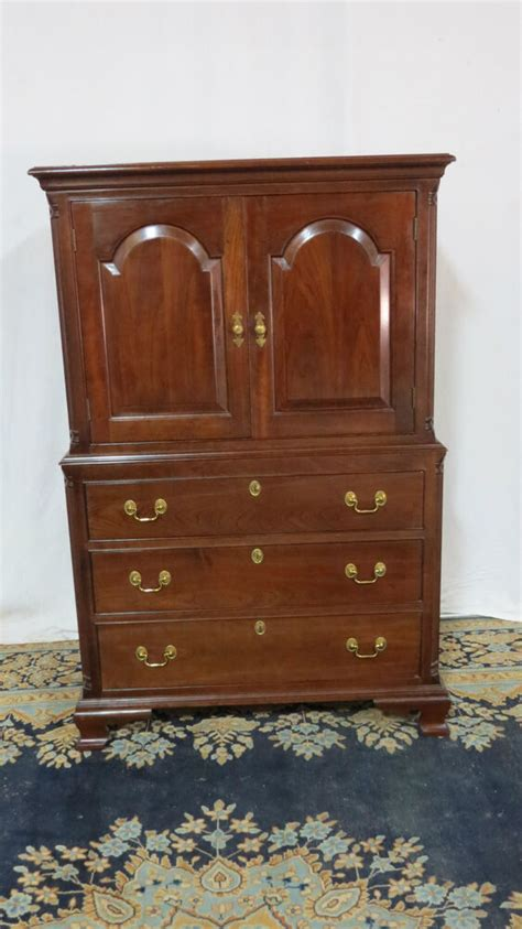 Dresser And Armoire Set by Stickley Armoire Wardrobe Chest Cherry Set Ebay
