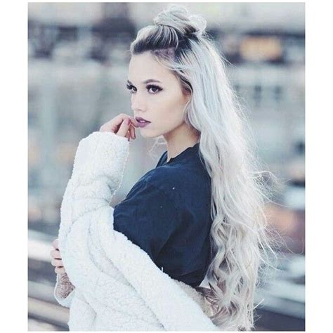 Silver White Platinum Hair Liked On Polyvore Featuring