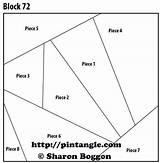 Quilt Block Pattern Crazy Patterns Template Coloring Sewing Pocket Pintangle sketch template