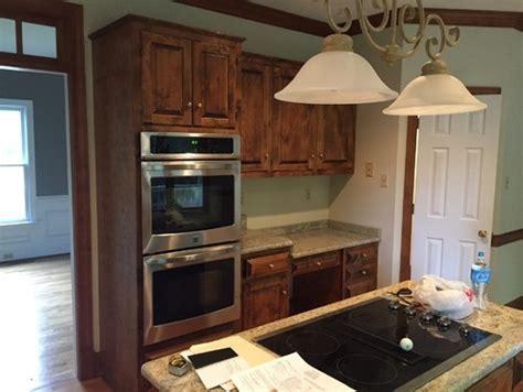 Cherry cabinets kitchen paint color