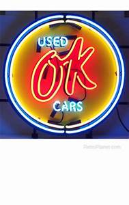 Chevy Vintage OK Used Cars Neon Sign