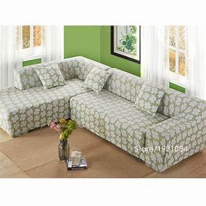 Flower tight elastic sofa cover slipcover fundas de sofas for Universal sectional sofa slipcovers