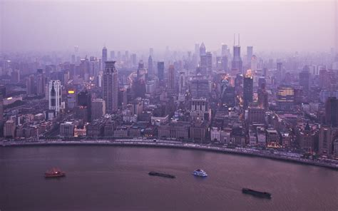 shanghai puxi skyline wide screen wallpaper pkk