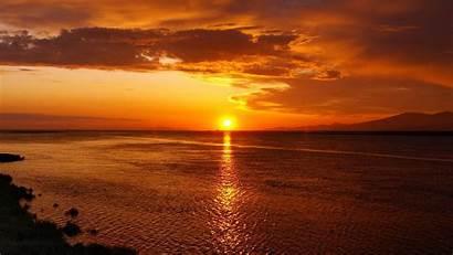 Widescreen Sunset Backgrounds Sea Wallpapersafari