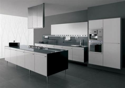 black and white contemporary kitchen interior design ideas de dise 241 o de cocinas en blanco y negro 7843
