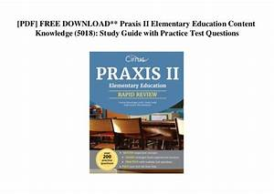 Praxis Study Guide Elementary Education Content Knowledge