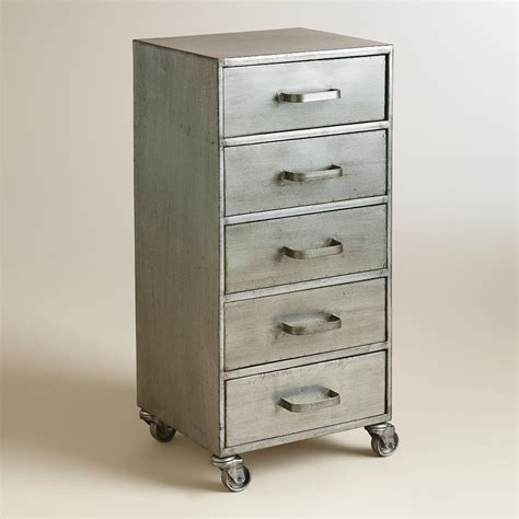 rolling storage cabinet with drawers metal 5 drawer jase rolling file cabinet world market