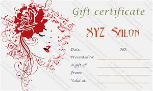 artistic salon gift certificate template With free beauty gift voucher template