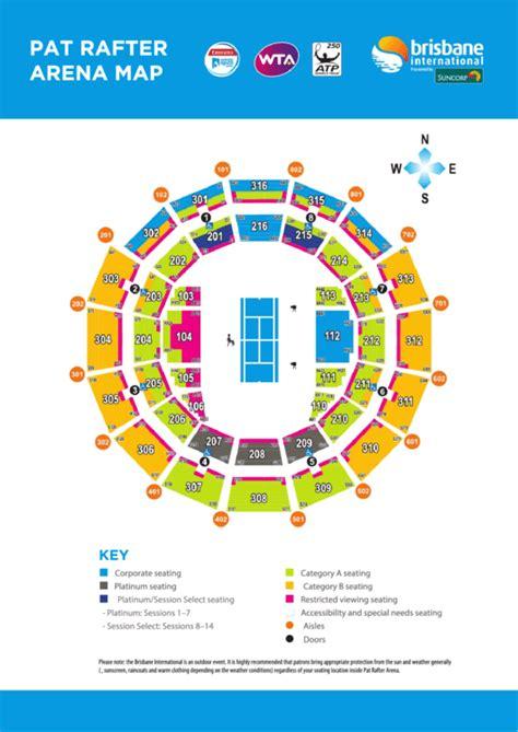 pat rafter arena map seating chart printable