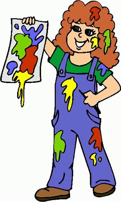 Clipart Painting Clip Paint Cartoon Children Cliparts