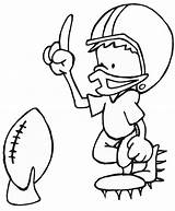 Football Coloring Printable Pages sketch template