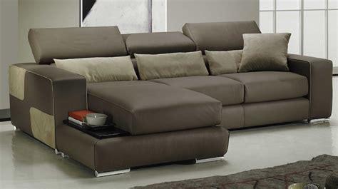 canapé réversible canapé d 39 angle réversible en cuir marron pas cher canapé