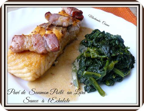 pav 233 s de saumon po 234 l 233 s au lard sauce 224 l echalote miechambo cuisine