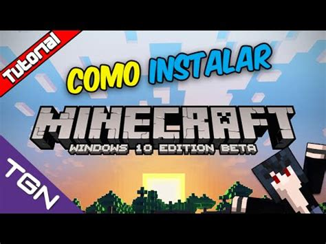 tutorial como descargar e instalar minecraft pe en windows