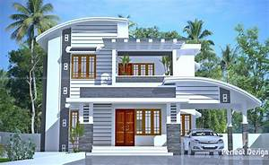 2140, Square, Feet, Double, Floor, House, In, Calicut, With, 4