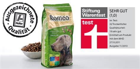 romeo hundetrockenfutter von hofer