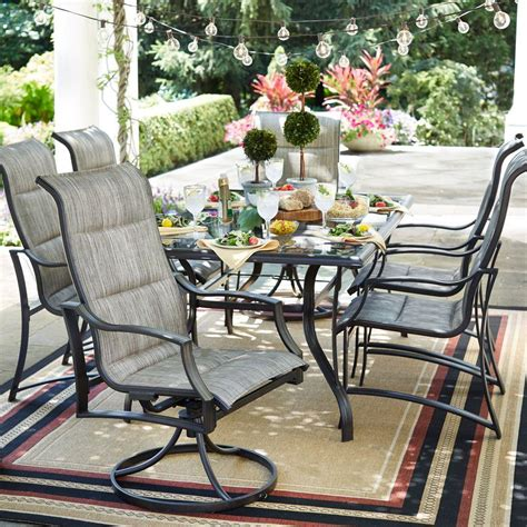 hton bay statesville 7 padded sling patio dining