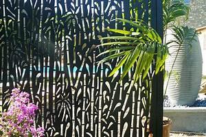 Panneau Décoratif Extérieur : panneaux aluminium bambou ambellya vue sur cour ~ Premium-room.com Idées de Décoration